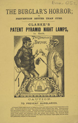 Advert For Clarke's Pyramid Night Lamps